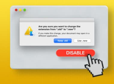 How to disable the change file extension warning on Mac