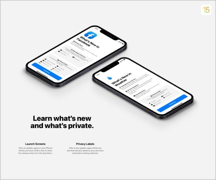 Verbesserte Datenschutzrichtlinie in neuem iOS 15