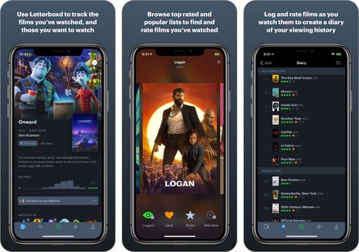Letterboxd App für iPhone zum Verfolgen von Filmen und TV-Shows