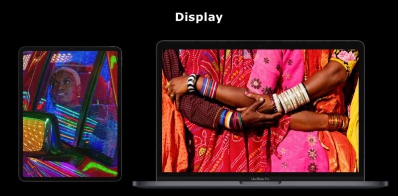 M1 iPad Pro vs. M1 MacBook Pro - Display