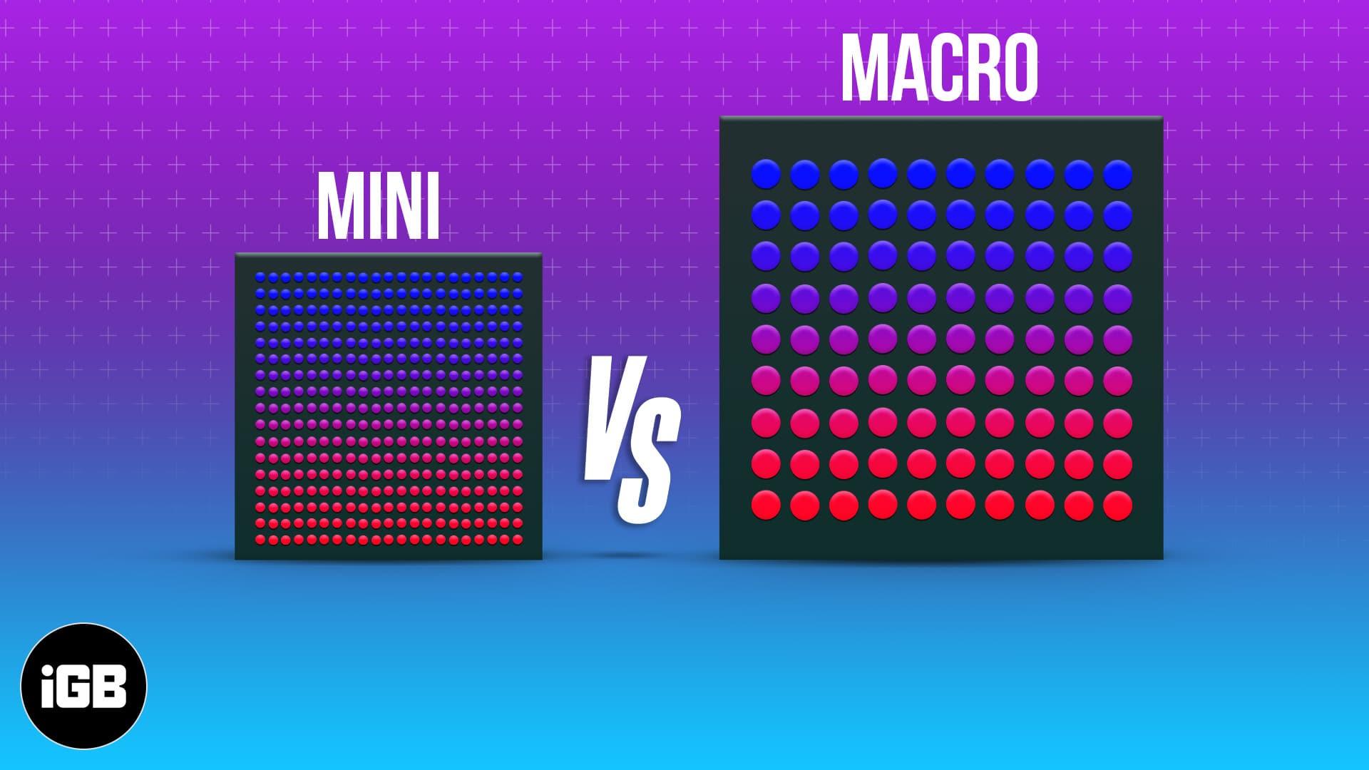 Mini-LED vs. micro-LED