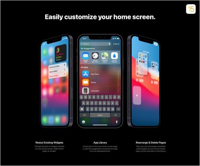 Interaktiverer Startbildschirm in iOS 15