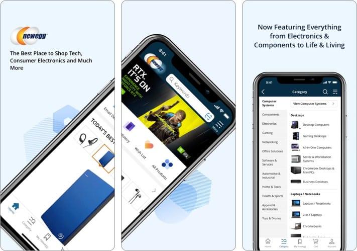 newegg best shopping app for iPhone