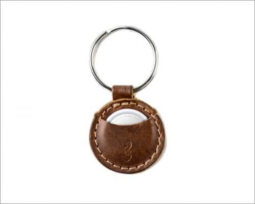 Pad & Quill Mighty leather AirTag keychain