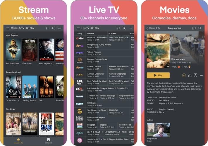 Plex- Movies, TV, Music & More iPhone and iPad app