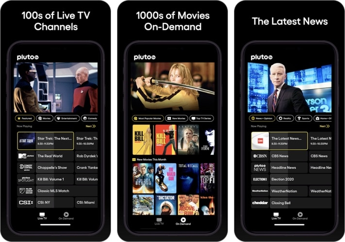 Pluto TV - Live TV, Movies iPhone and iPad app