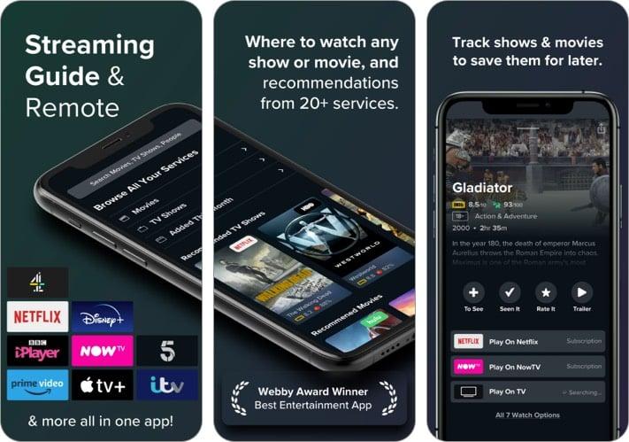 Reelgood iPhone App zum Verfolgen von Filmen und TV-Shows