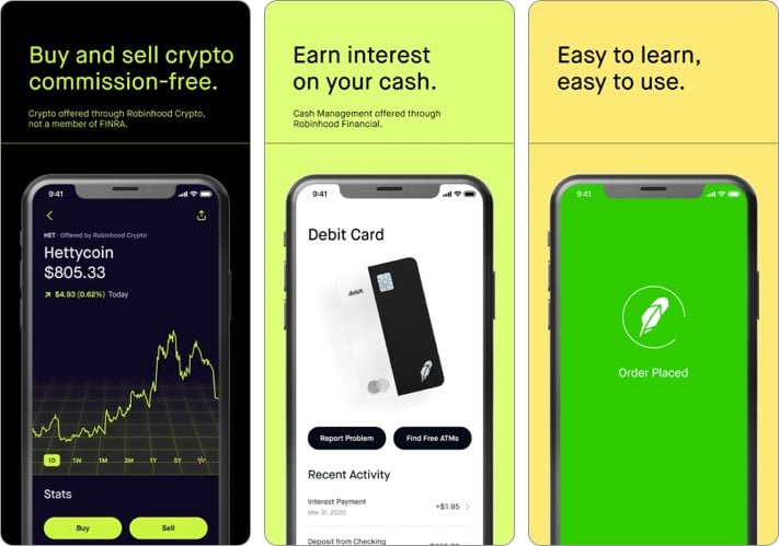 Robinhood best stock trading app for iPhone