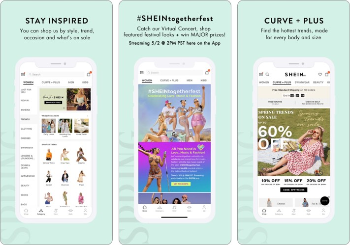 SHEIN best shopping app for iPhone
