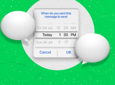 Schedule text messages on iPhone