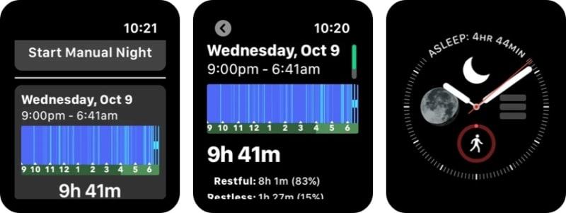 Приложение Sleep ++ для Apple Watch