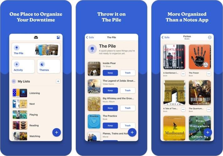 Sofa iPhone App zum Verfolgen von Filmen und TV-Shows