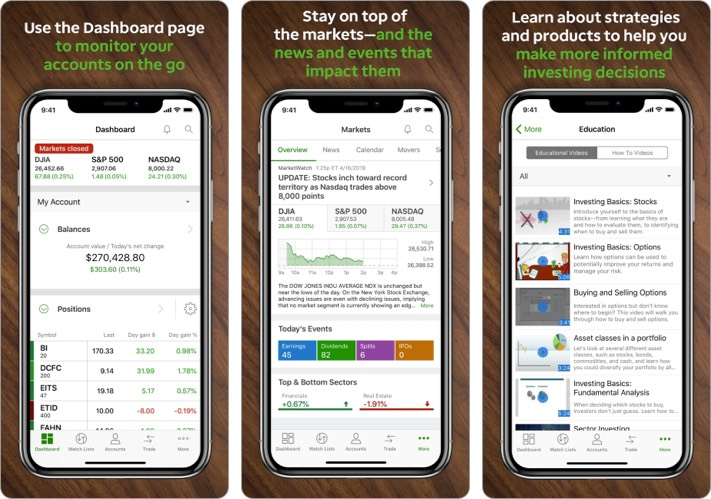 TD Ameritrade best stock trading app for iPhone