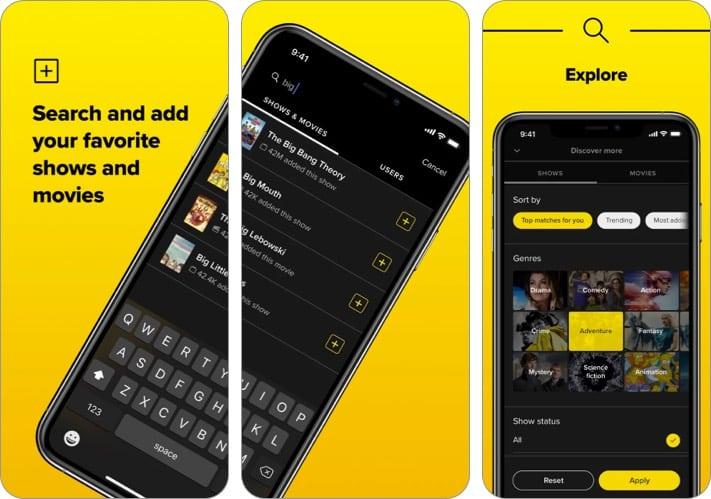 TV Time iPhone App zum Verfolgen von Filmen und TV-Shows