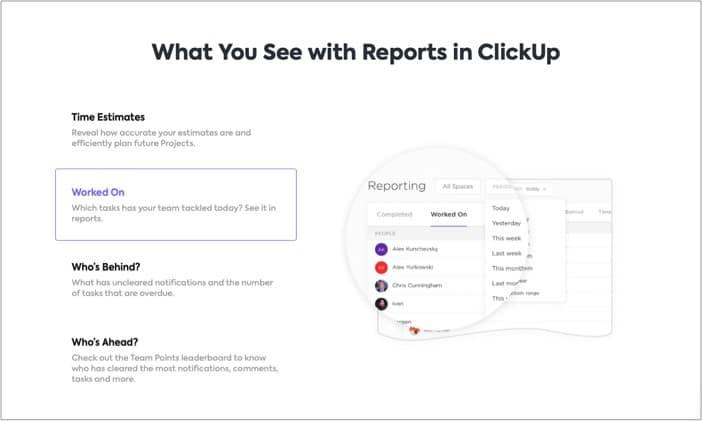 Team Management in ClickUp iPhone app