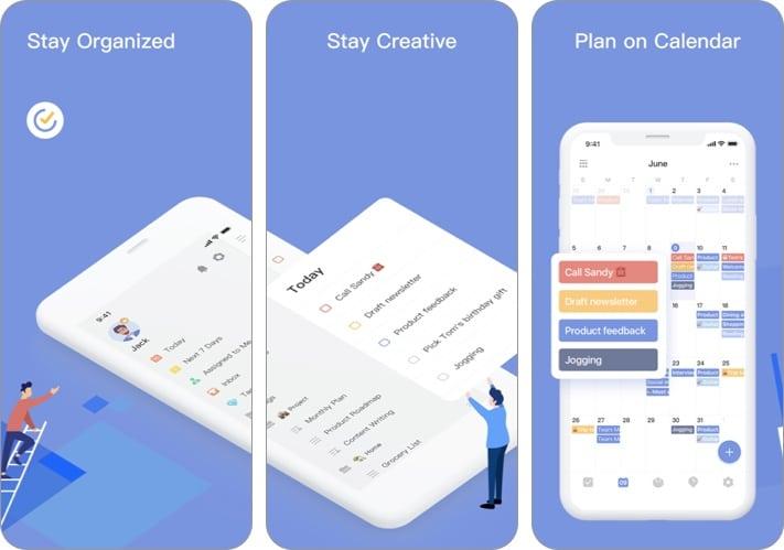 TickTick iPhone and iPad app screenshot