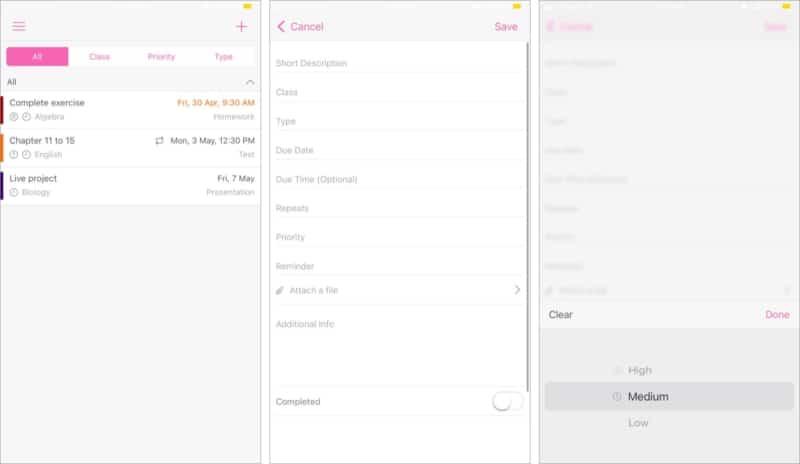 Verfolgen Sie Ihre Hausaufgaben mit der iOS-App myHomework