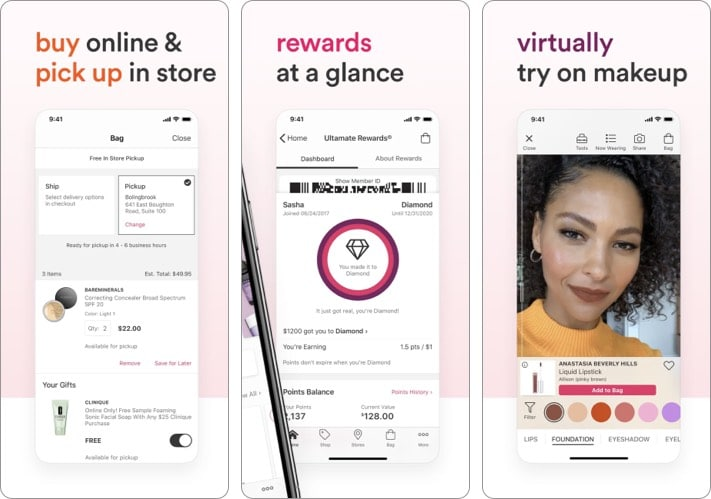 Ulta Beauty best shopping app for iPhone