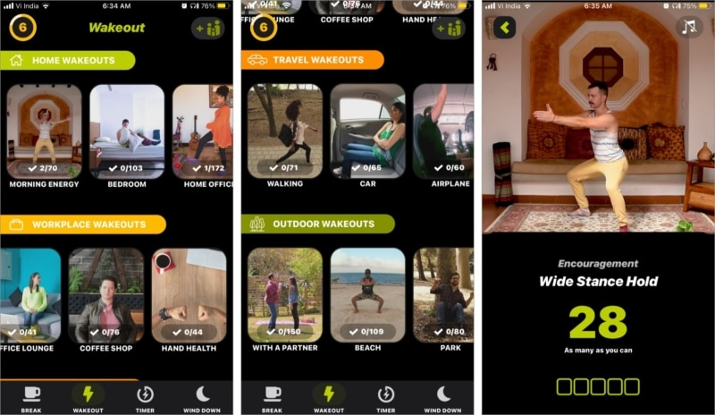 Wakeout iOS app is designed to encourage you towards a healthier life