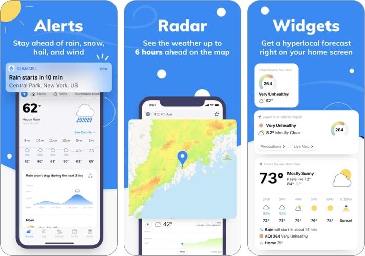Weather by Tomorrow iPhone and iPad app screenshot