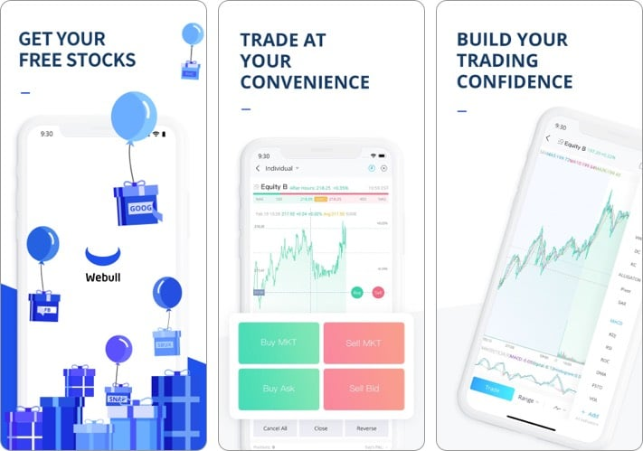Webull best stock trading app for iPhone