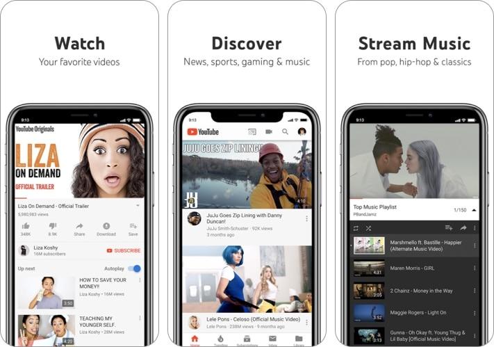 YouTube iPhone and iPad app