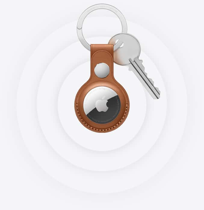 AirTag attached to keys