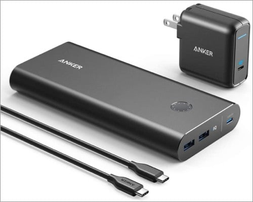 Anker PowerCore+ portable charger bundle best suited for iPad
