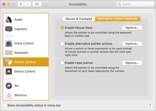 Enable right-click on Mac using Accessibility options
