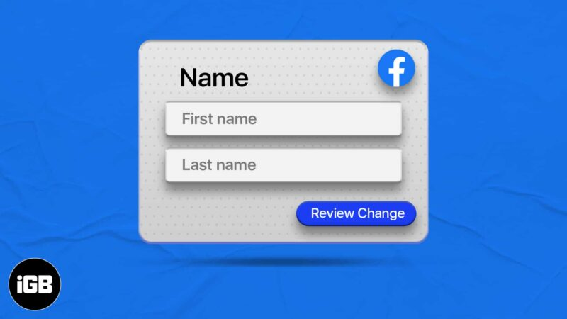 How to change your name on Facebook on iPhone