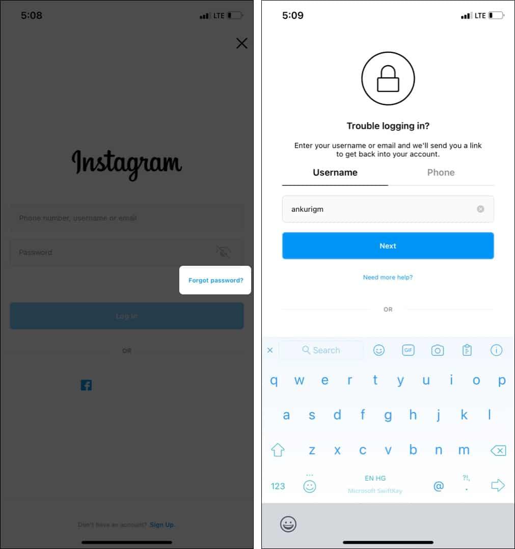 How to reset your forgotten Instagram password using app