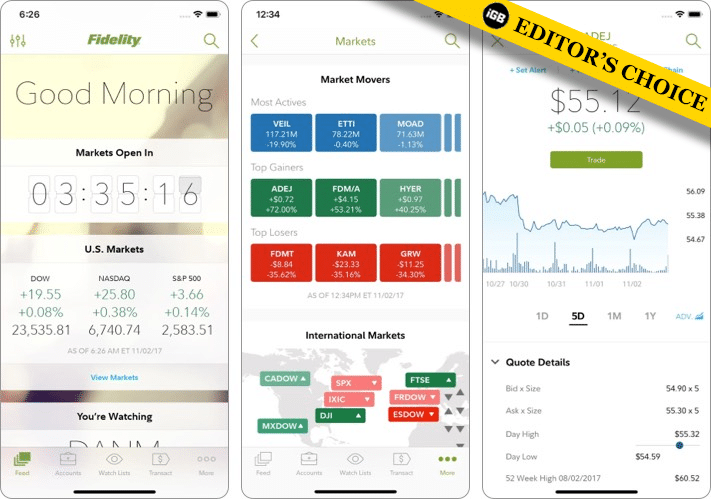 Fidelity best stock trading app for iPhone