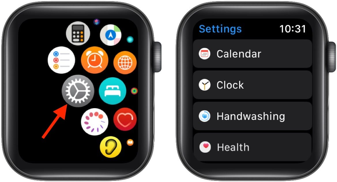 Open Apple Watch Settings and tap Clock