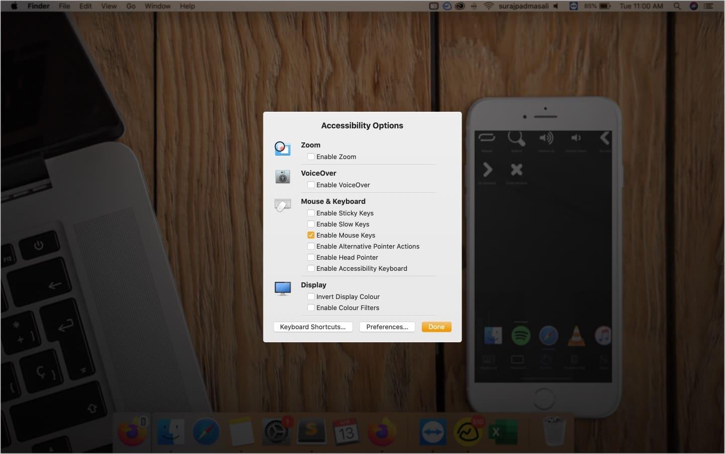 Нажмите опциональную команду F5, чтобы открыть ярлык специальных возможностей на Mac.