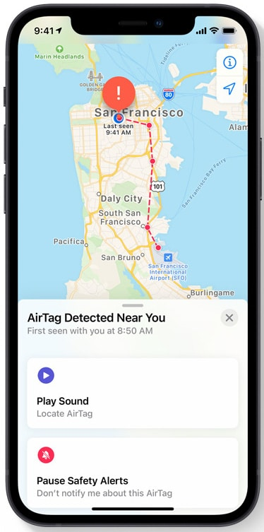 Privacy with AirTags as Location Data is encrypted and anonymous