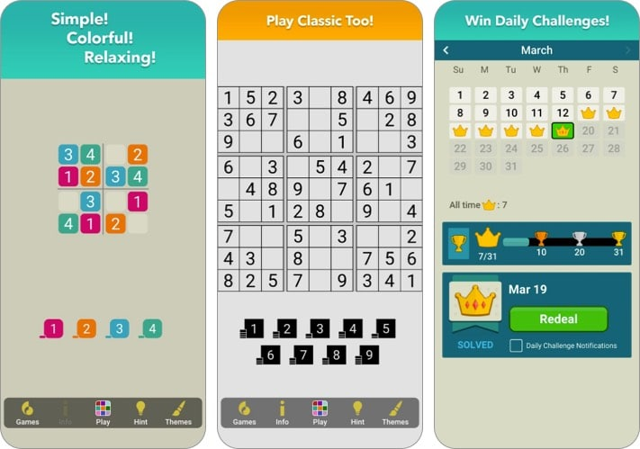 sudoku simple+ apple arcade game screenshot