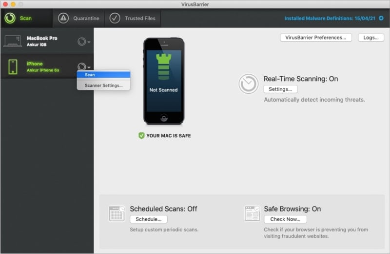 VirusBarrier Protection for your iPhone and iPad too
