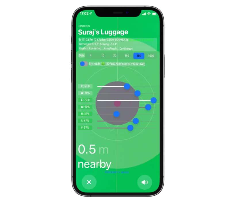 AirTag Hidden Developer-Modus iPhone-Bildschirm