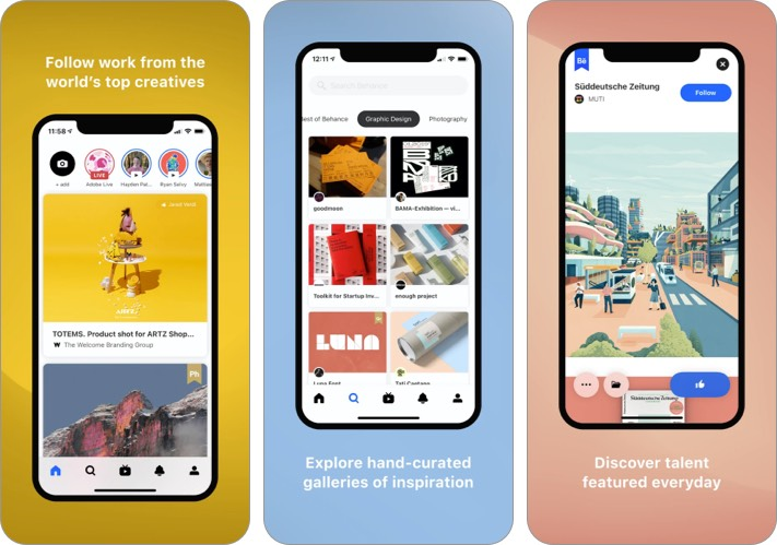 behance best facebook alternative for iPhone and iPad