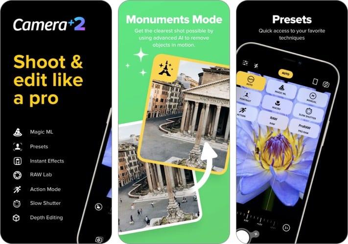 Camera+ 2 iPhone camera app screenshot