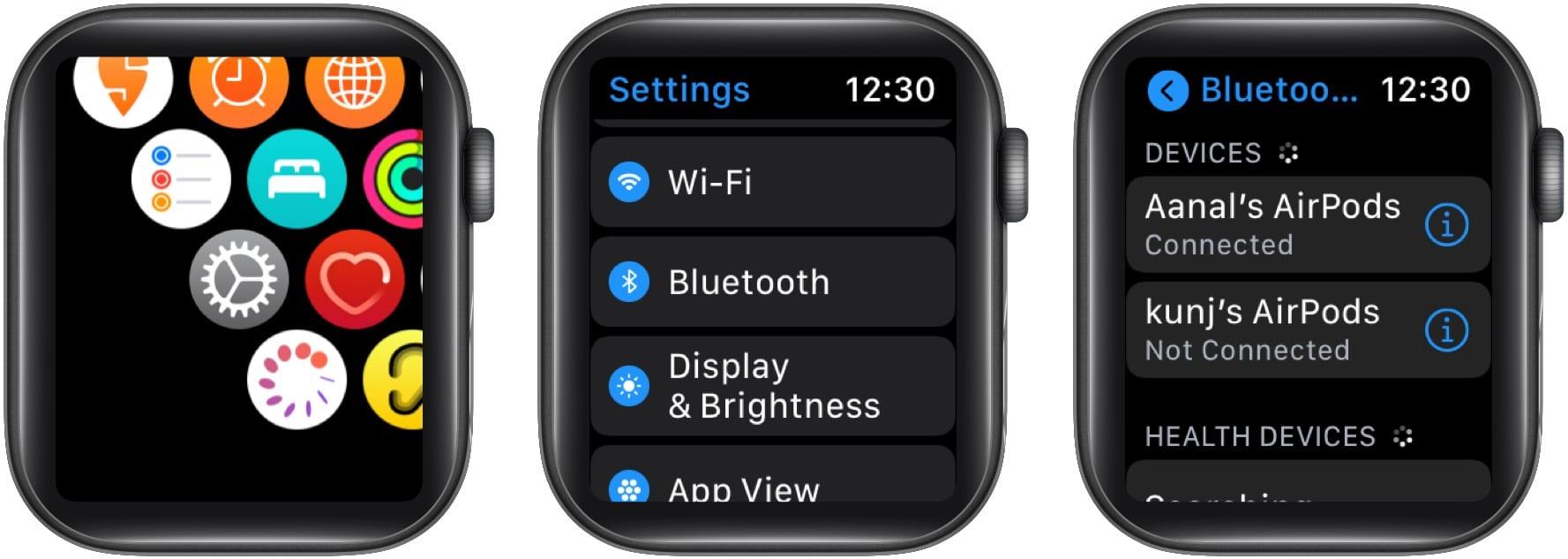 Schließen Sie Bluetooth-Kopfhörer an Ihre Apple Watch an