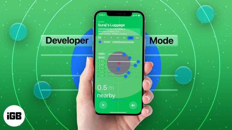 Enable Apple Airtags Hidden Developer Mode on iPhone
