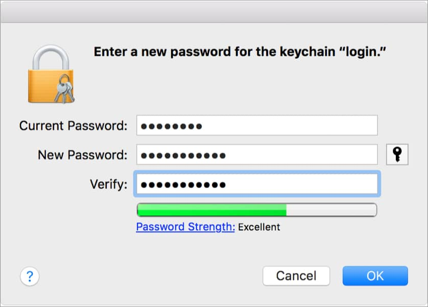 Enter the requested passwords and verify your information and hit ok