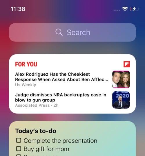 Flipboard iOS 14 widget