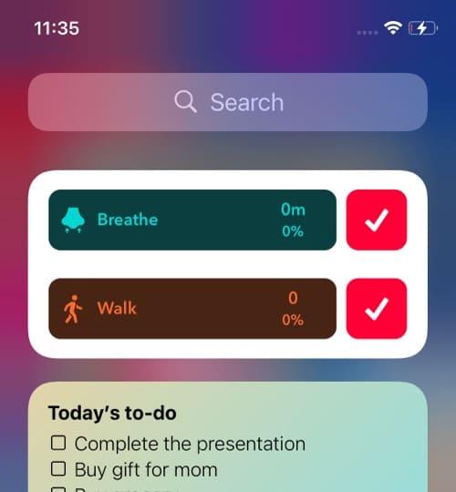 HabitMinder iOS 14 home screen widget