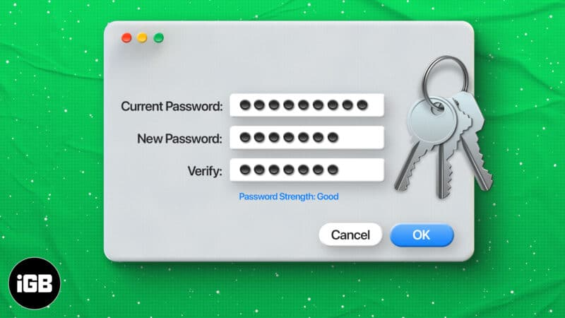 How to change Keychain password on Mac