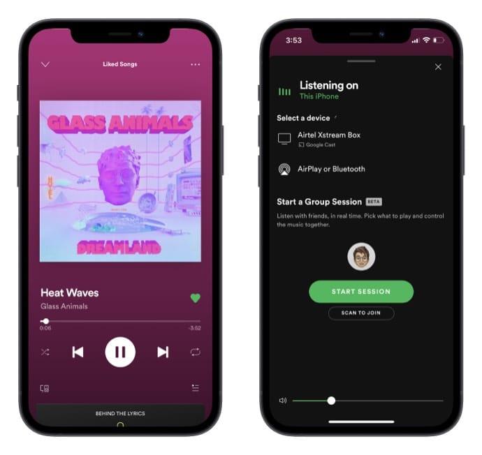 So starten Sie eine Gruppensitzung auf Spotify von iPhone und Mac