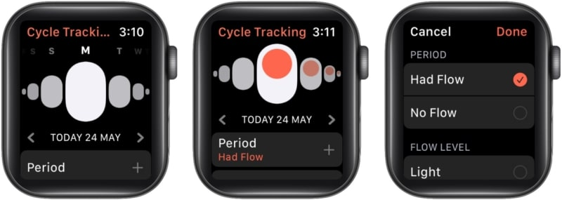 How to track your period with Cycle Tracker on Apple Watch