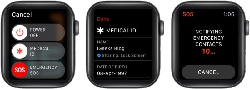 Как посмотреть чей-то медицинский идентификатор на Apple Watch