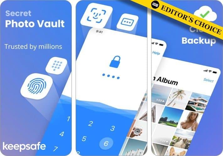 Keepsafe Photo Vault app for iPhone